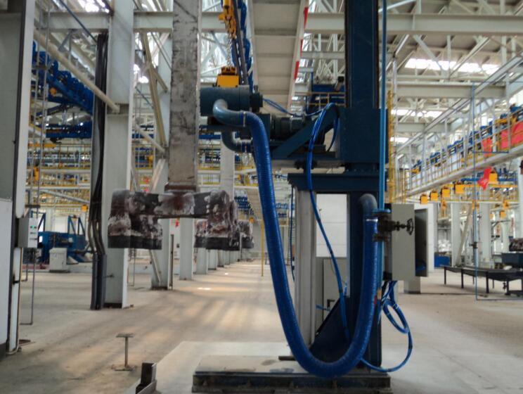 西安铝厂地面设备_导杆清刷机