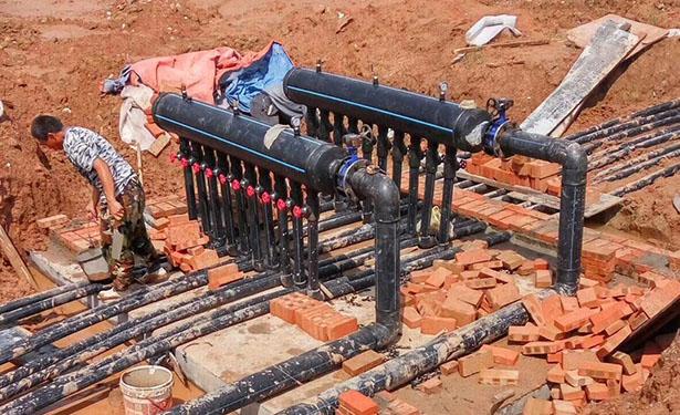 泰州工程、别墅 地源热泵冷、热水三联供