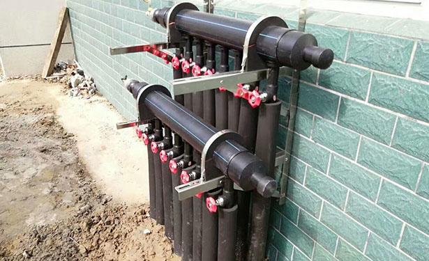 如皋工程、别墅 地源热泵冷、热水三联供