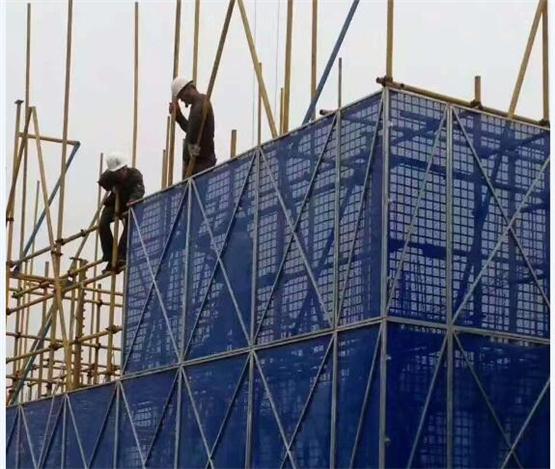 西安爬架网施工