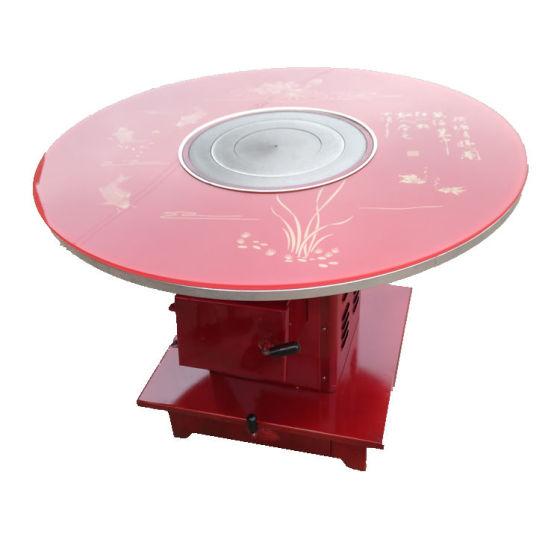 大家知道柴火集成灶火锅桌定制的好处吗