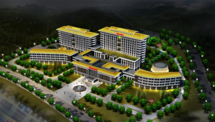 岐山医院鸟瞰-甘肃城市楼宇亮化工程