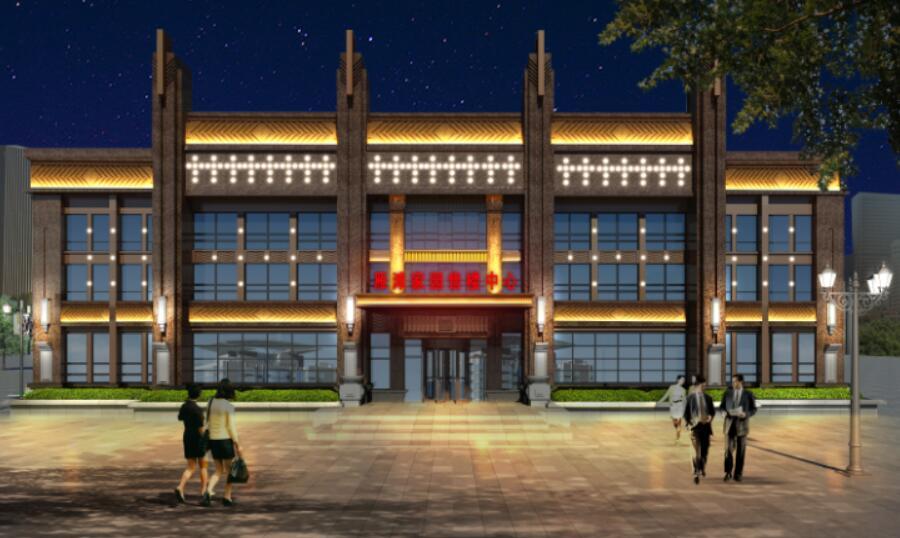 甘肃兰州雁滩家园售楼中心亮化工程