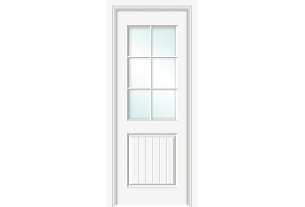 玻璃实木门