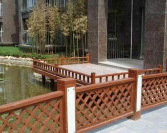 成都防腐木栏杆安装