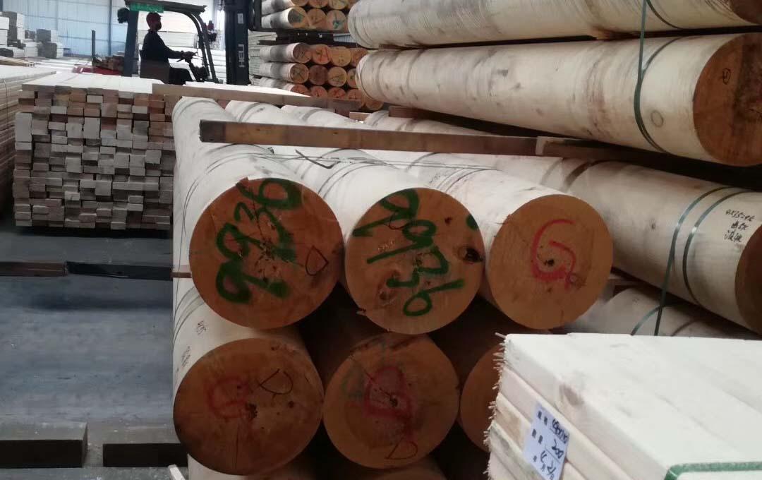 防腐木加工区域