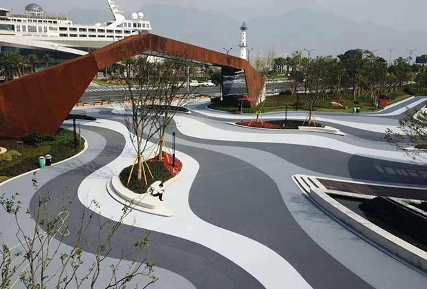 四川SP压花-彩色路面封层材料