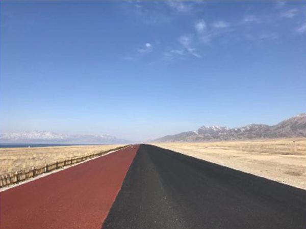 新疆賽里木湖施工