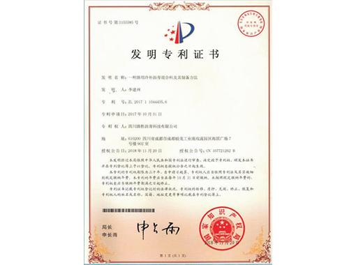 发明专项证书