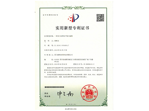 實用新型專項證書(一)