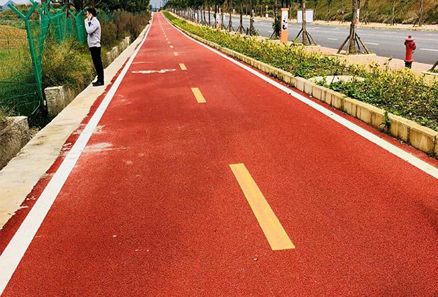 怎么让四川彩色沥青路面不受污染?