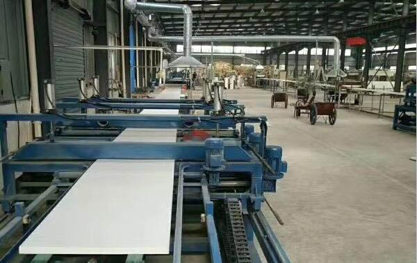 挤塑板生产区域