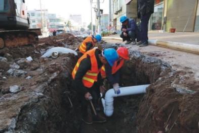 成都新都区军屯镇污水管网项目