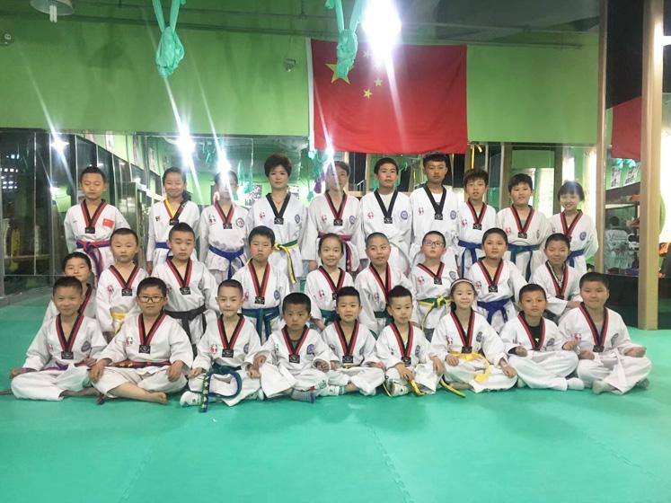 成人跆拳道培训中心集体合影