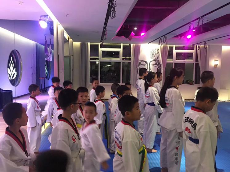 跆拳道培训现场拍摄