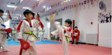 青少年跆拳道培训实拍