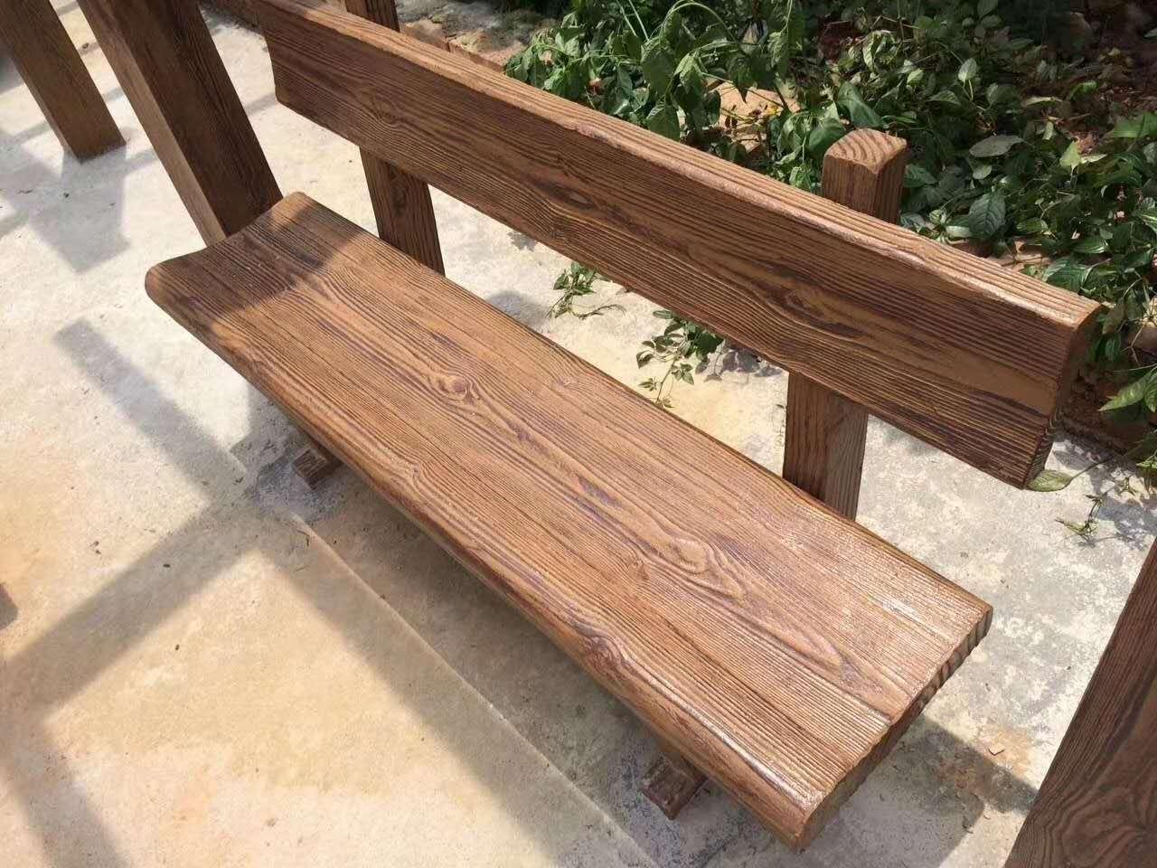 成都水泥仿木凳子