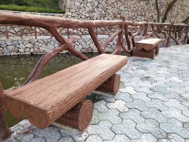 成都水泥仿木坐凳