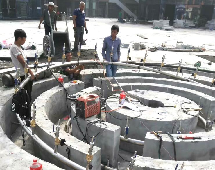 四川广场喷泉施工