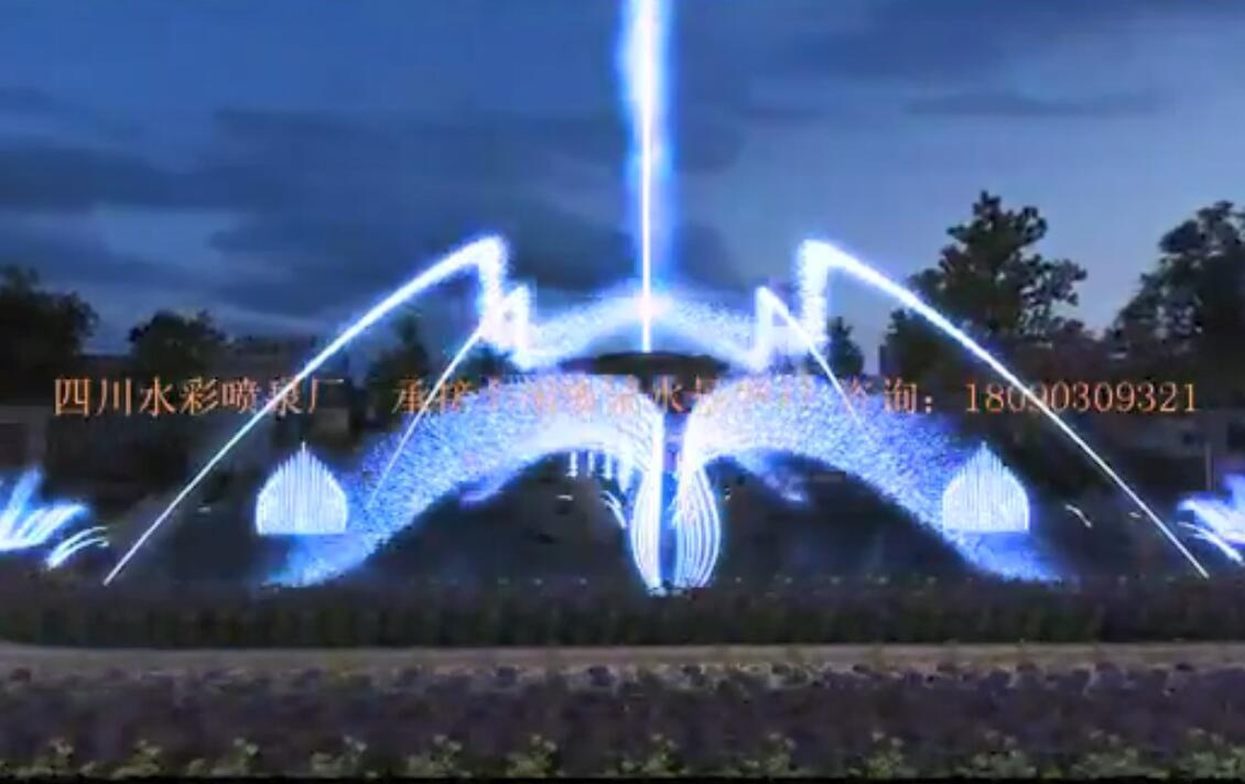 中庭音乐喷泉