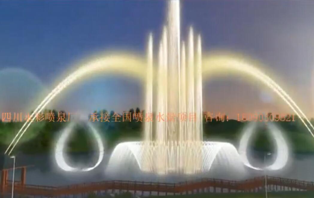漂浮式音乐喷泉