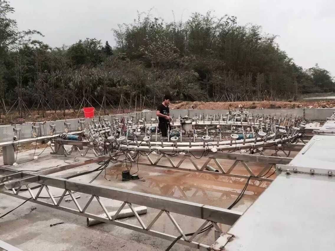 程控喷泉施工现场