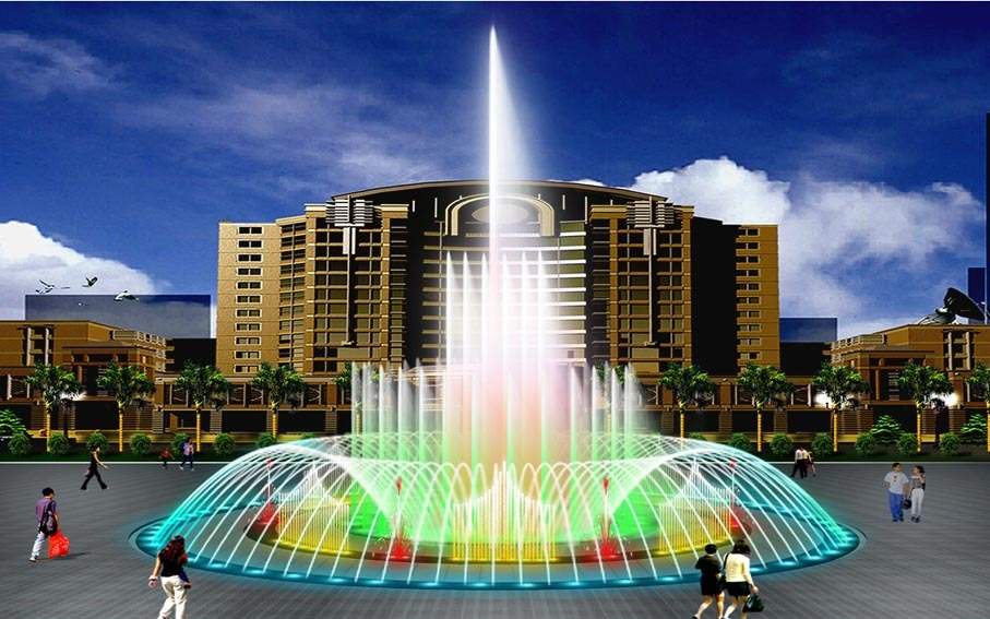 四川广场喷泉设计