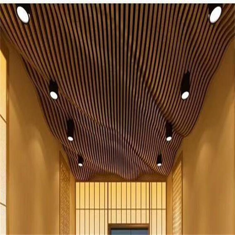 木纹铝单板展示品