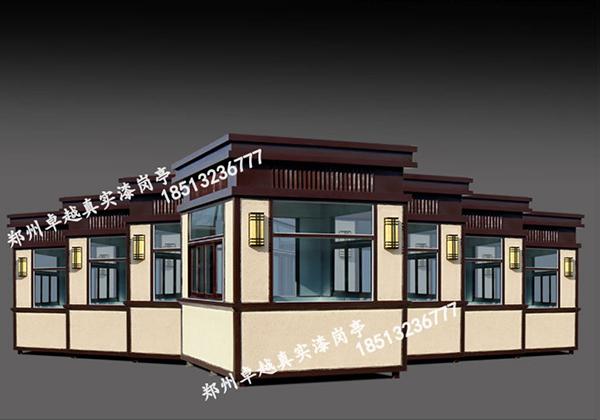 T065-真石漆艺术岗亭