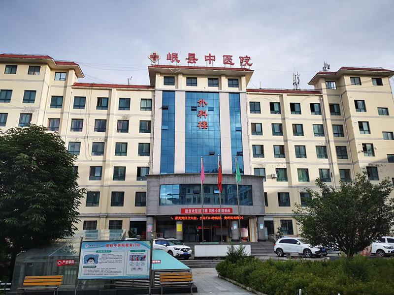 甘肃博克智慧为岷县中医院两部三菱电梯安装电梯门禁控制系统