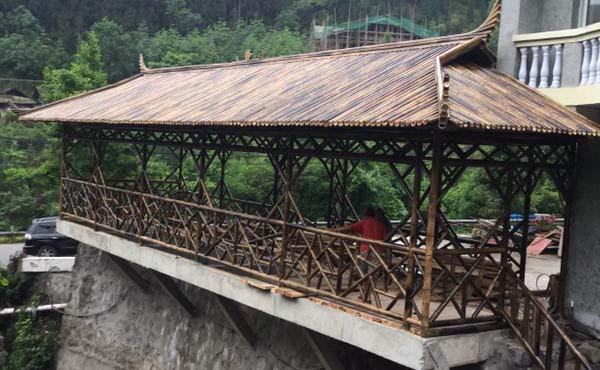 公园景区的四川竹廊设计有何好处?