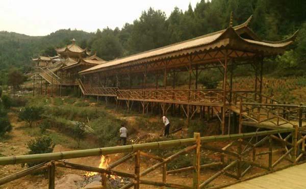 漫步竹廊如踏林间