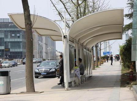 成都公交站膜结构