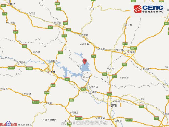 河南南阳市淅川县发生3.6级地震 震源深度9千米