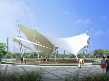 浅析成都广场膜结构遮阳棚质量怎么样?