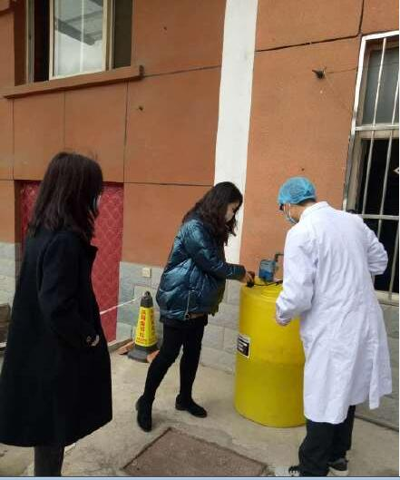 宝鸡市生态环境局陈仓分局对区上确定的隔离医学观察点污水处理问题进行了现场检查