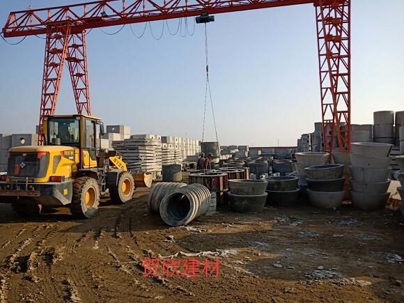 贺欣建材-呼和浩特水泥制品厂家厂区施工环境