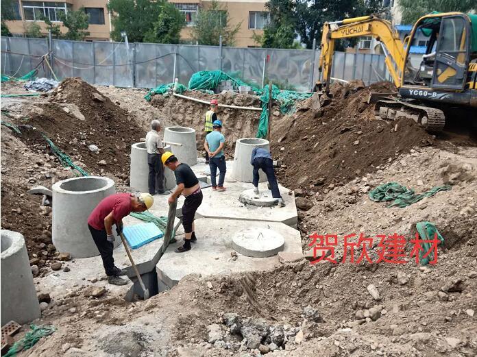 内蒙古化粪池厂家施工安装服务案例-内蒙古工业大学