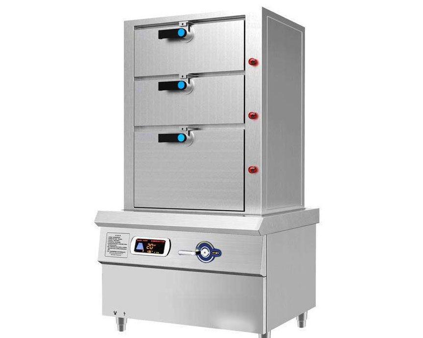 成都酒店厨房设备-电磁海鲜蒸柜