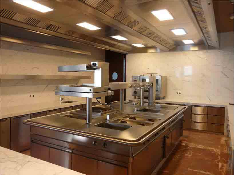 中央厨房设备调试现场