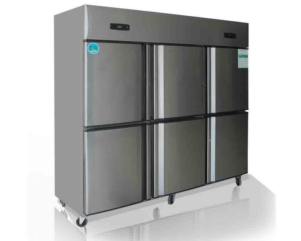 成都酒店厨房设备-六门双温冰箱