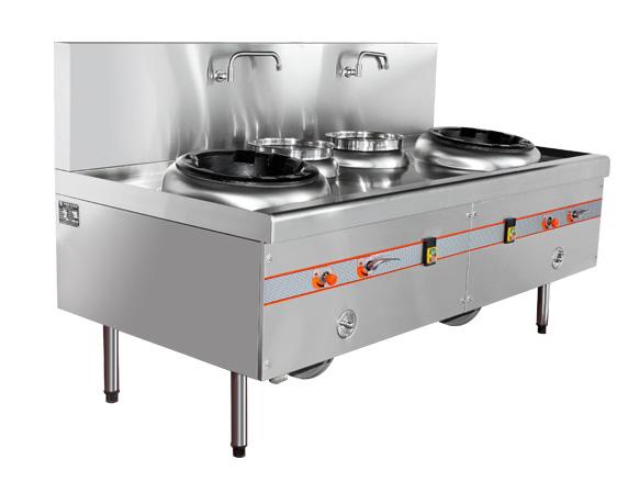 成都商业厨房设备- 双灶双温经济款