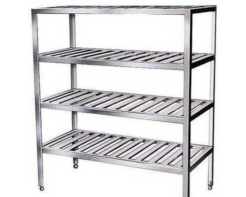 成都厨房设备-四层格栏菜架
