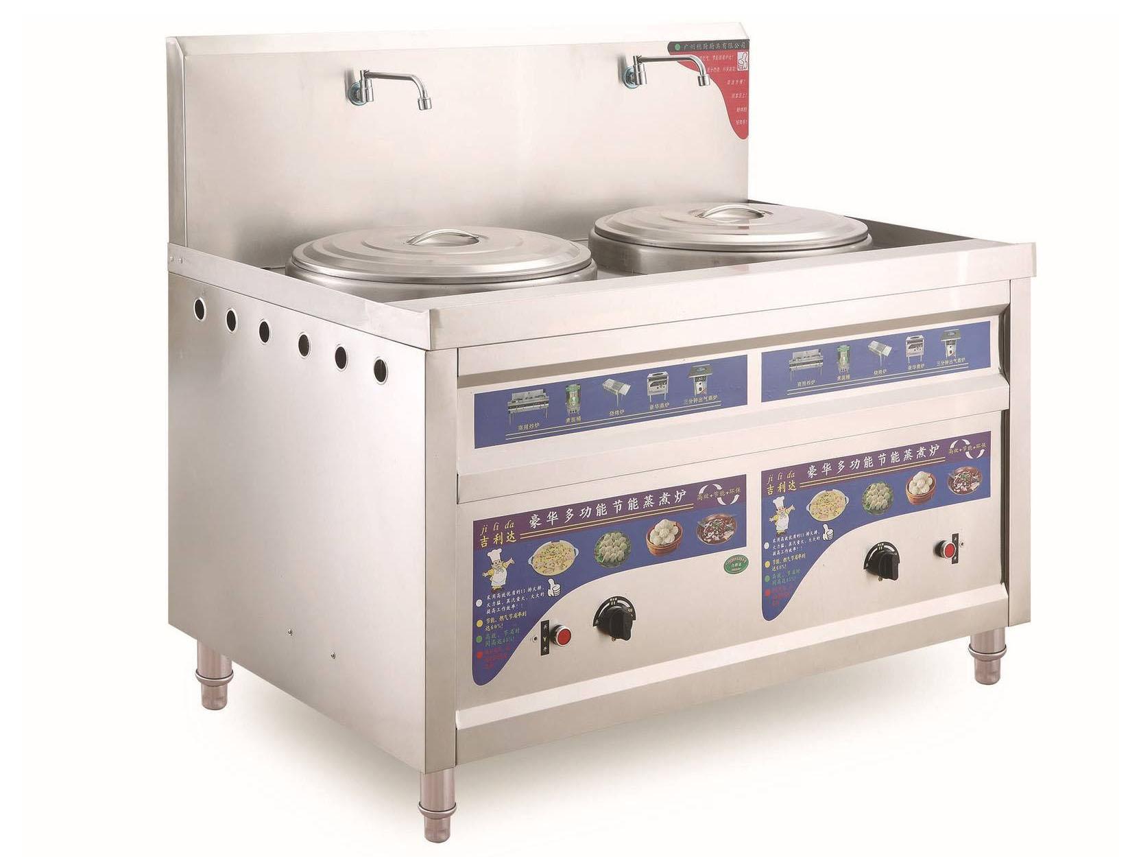 四川吧台厨房设备-双头煮面柜