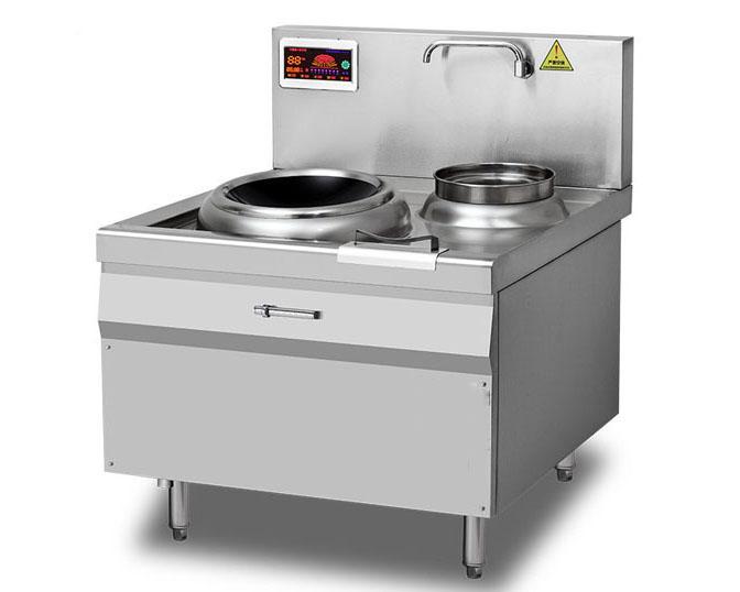 成都酒店厨房设备-单炒单水鐣电磁炒炉