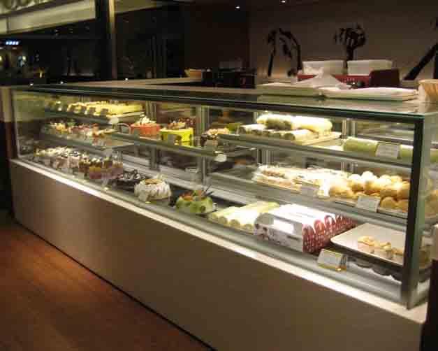 四川酒店厨房设备-直角蛋糕展示柜