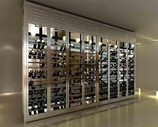 成都酒店厨房设备-不锈钢定制酒柜