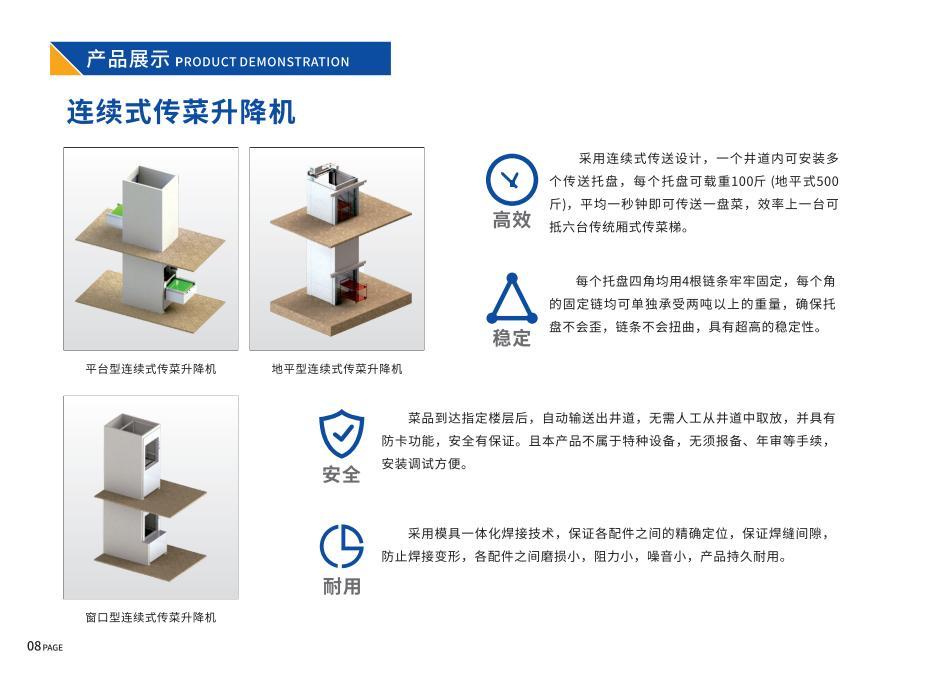 连续式传菜升降机—平台型