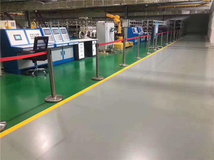 宇浩通达给电子厂区修建的聚氨酯超耐磨地坪案例