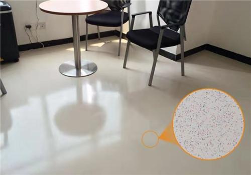 宇浩通达给某公司办公室修建的环氧彩砂自流坪